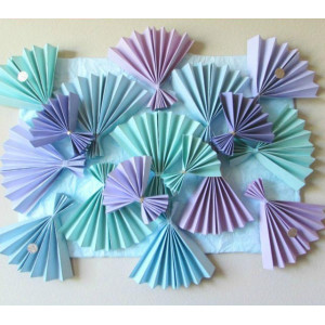 Веера для декора CP-03-16-024 (цвета в ассортименте)