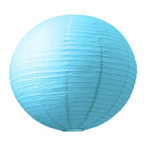 Абажур из рисовой бумаги MA-15-015 (15 см, голубой)