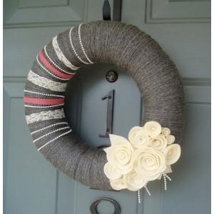 """Декор на двери  на 8 марта в стиле """"квилинг"""" M-14"""