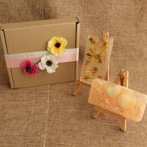 Мыло ручной работы  подарочный набор «Цветы акации» – 2 бруска  WSPN-003