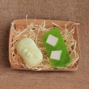 Мыло ручной работы набор «Оливки и эвкалипт» – 2 мыла WSPN-011
