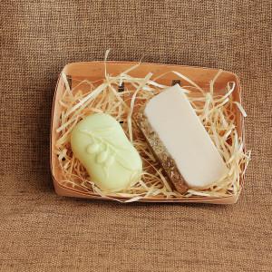 Мыло ручной работы набор «Овсяные хлопья и оливковое масло» – 2 мыла WSPN-012