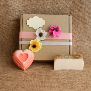 Мыло ручной работы  подарочный набор «Волнующая ваниль» –  WSPN-018