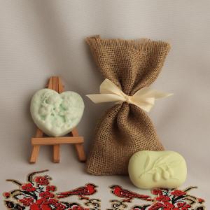 Мыло ручной работы  подарочный набор «Два ангела и Олива» –  WSPN-022