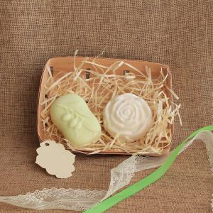 Мыло ручной работы  подарочный набор «Оливки и Роза» WSPN-026