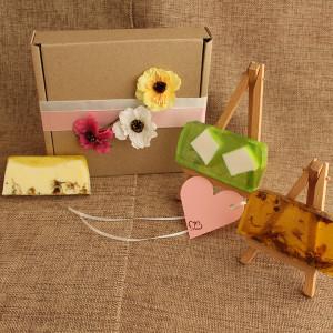 Мыло ручной работы  подарочный набор – 3 бруска  WSPN-001
