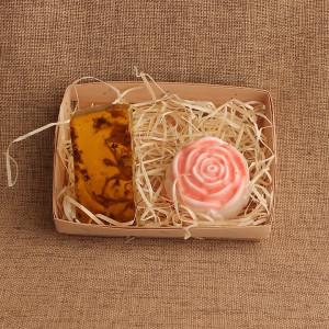 Мыло ручной работы  подарочный набор «Роза и Липа» WSPN-010