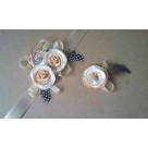 Бутоньерки для жениха и невесты M - 048