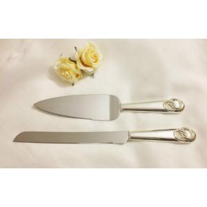Нож и лопатка для свадебного торта М-007G