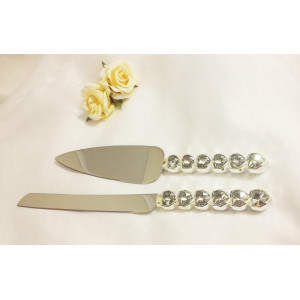 Нож и лопатка для свадебного торта М-052G