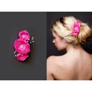 """Заколка """"Розовые розы"""" DA - 04 - 008"""