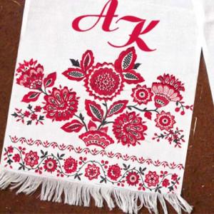 Дизайнерский свадебный рушник с Вашими инициалами LX - 08 - 001