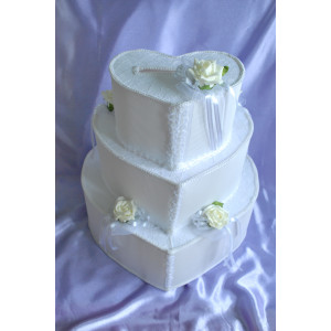 "Сундук для денег ""Коробка-торт в форме сердечка"""