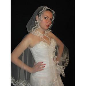 Венчальная накидка с капюшоном FV-17-010
