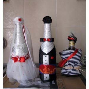 Свадебное шампанское 'Невеста + Жених+боярин