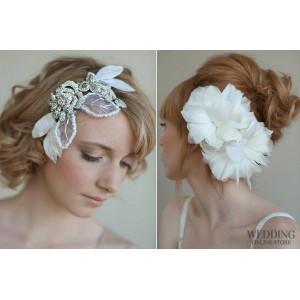 Популярные свадебные аксессуары для волос